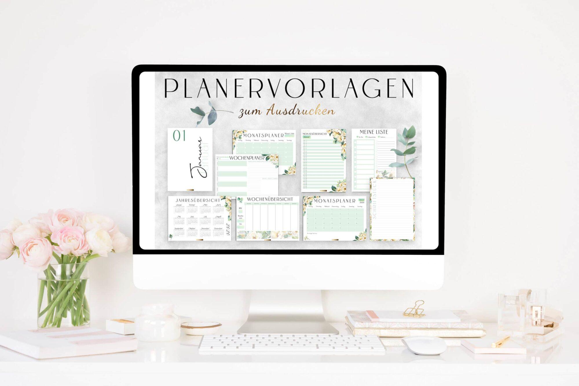 2021 Organizer XXL-Set / PDF Kalender und Planer Vorlagen zum Ausdrucken 6