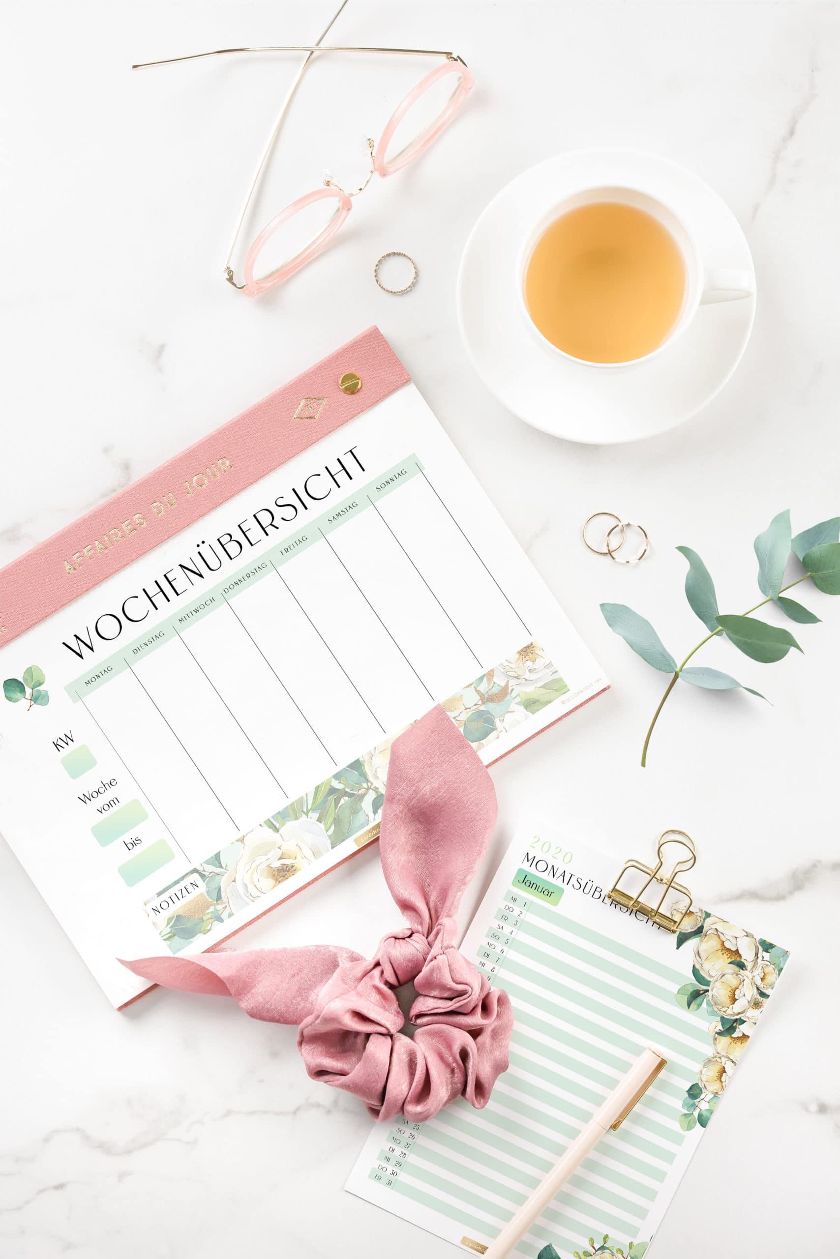 2021 Organizer XXL-Set / PDF Kalender und Planer Vorlagen zum Ausdrucken 5