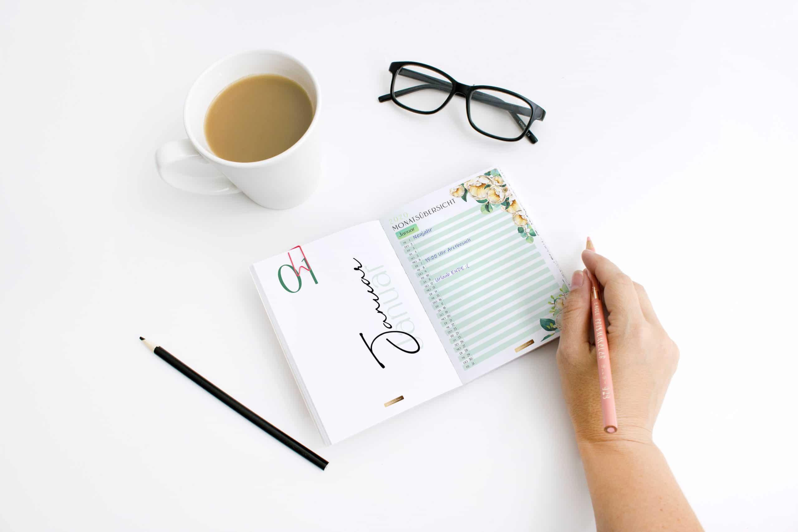 2021 Organizer XXL-Set / PDF Kalender und Planer Vorlagen zum Ausdrucken 3
