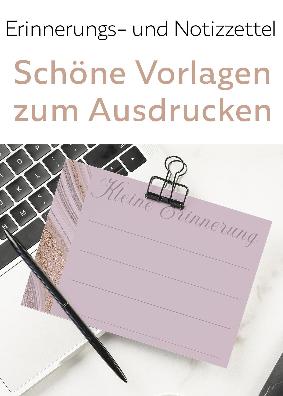 Nude Gold Vorlage zum Ausdrucken Notizzettel Brief Erinnerung Für Bullet Journal Planer Aufhängen ausdrucken