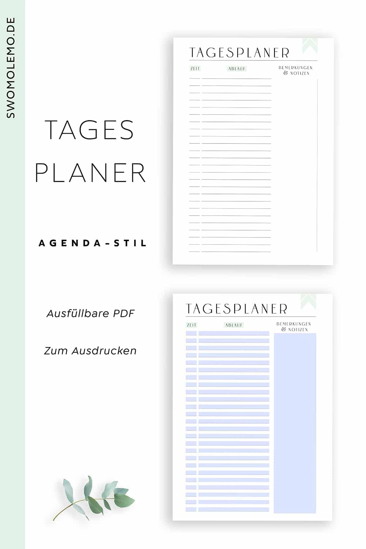 Tagesplaner_zum_Ausdrucken_Zeitplan_Agenda_Minimal_Green