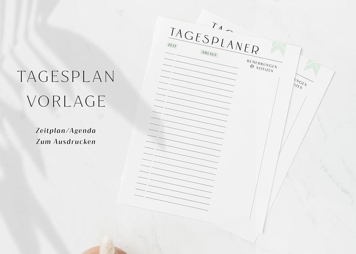 Tagesplan_Vorlage_zum_Ausdrucken_Zeitplan_Agenda_Minimal_Green