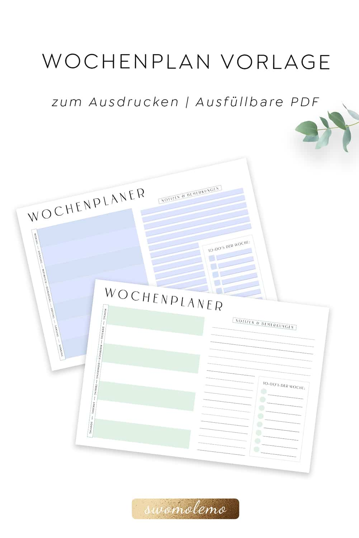 Wochenplan_Vorlage_zum_Ausdrucken_minimalistisch_minimal_Green_Swomolemo_PDF
