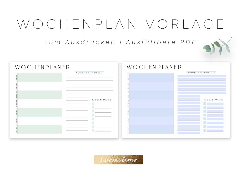 Wochenplaner_zum_Ausdrucken_minimalistisch_minimal_Green_Swomolemo