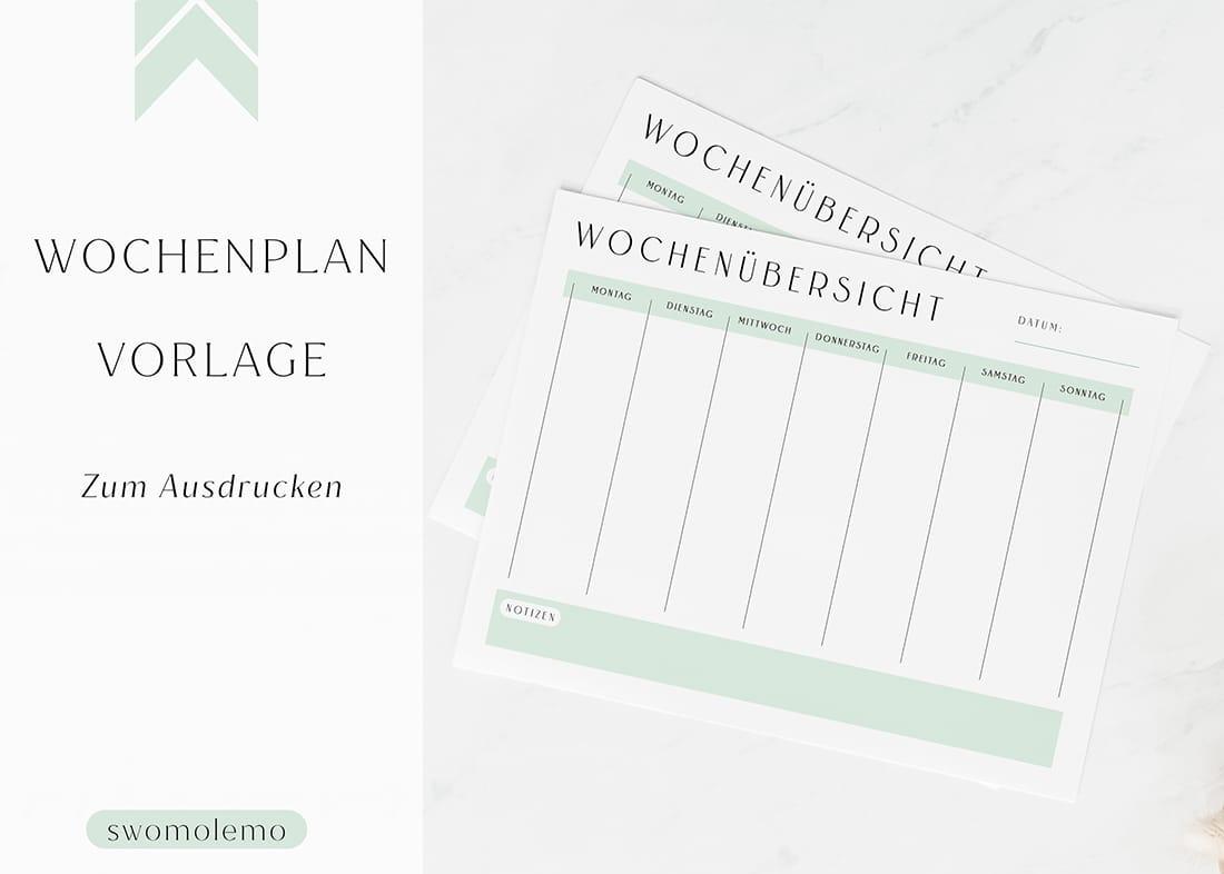 Wochenplan_ausdrucken_blanko_minimal_green_swomolemo