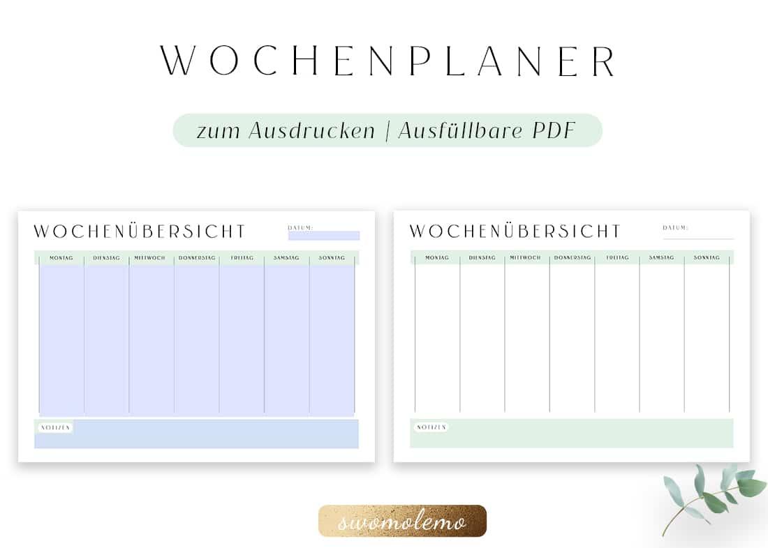 Wochenplan_zum_ausdrucken_blanko_minimal_green_swomolemo