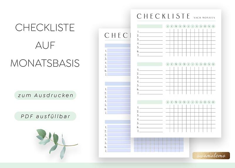 Checkliste_nach_Monaten_Blanko_Jahresplaner_minimal_Green