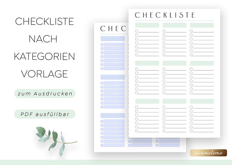Checkliste_zum_Ausdrucken_Kategorien_Blanko_pdf_minimal_Green