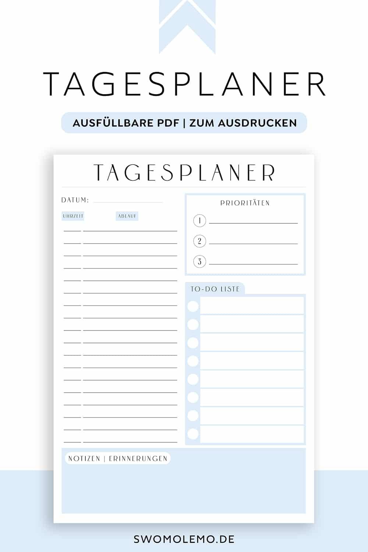 Tagesplan_Vorlage_Blau_Minimal_Blue_zum_ausdrucken_digital