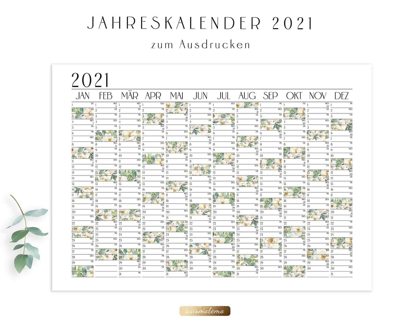 Jahresplaner-2021-Wandkalender-Bloomy-Green-Kollektion