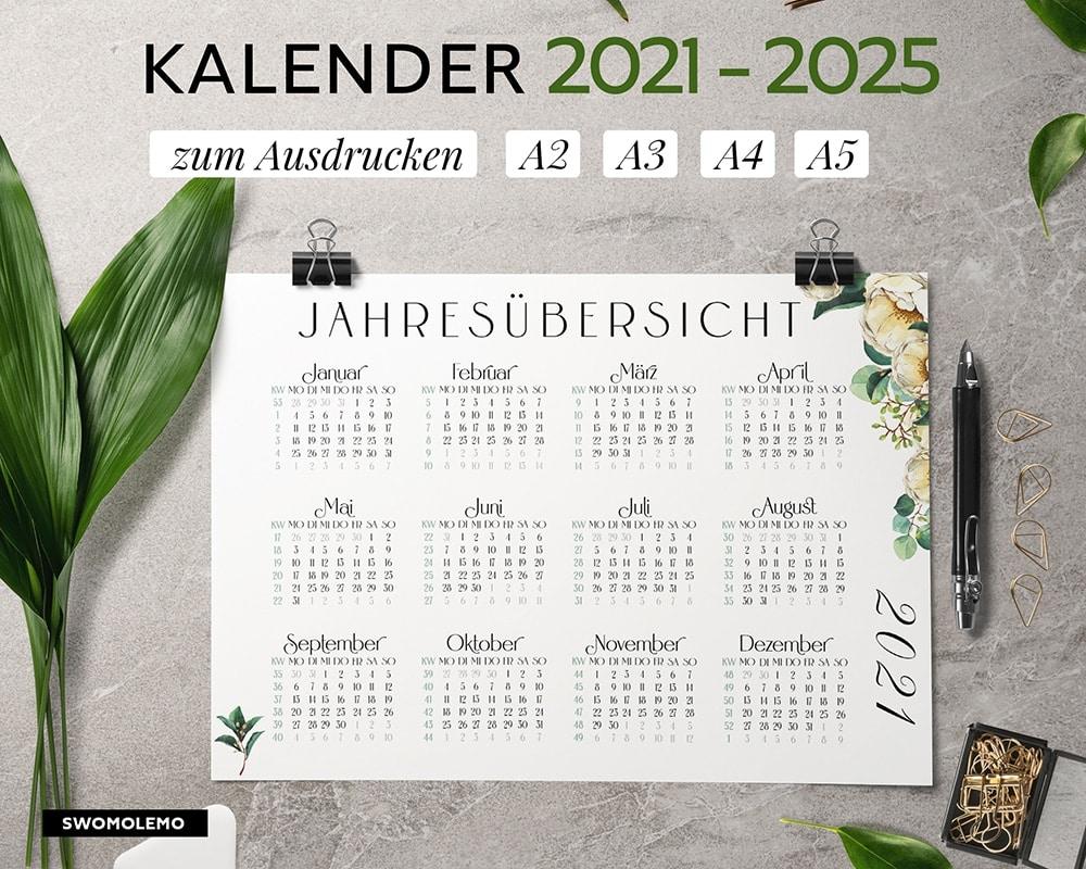 kalender-2021-2025-zum-ausdrucken-bloomy-green