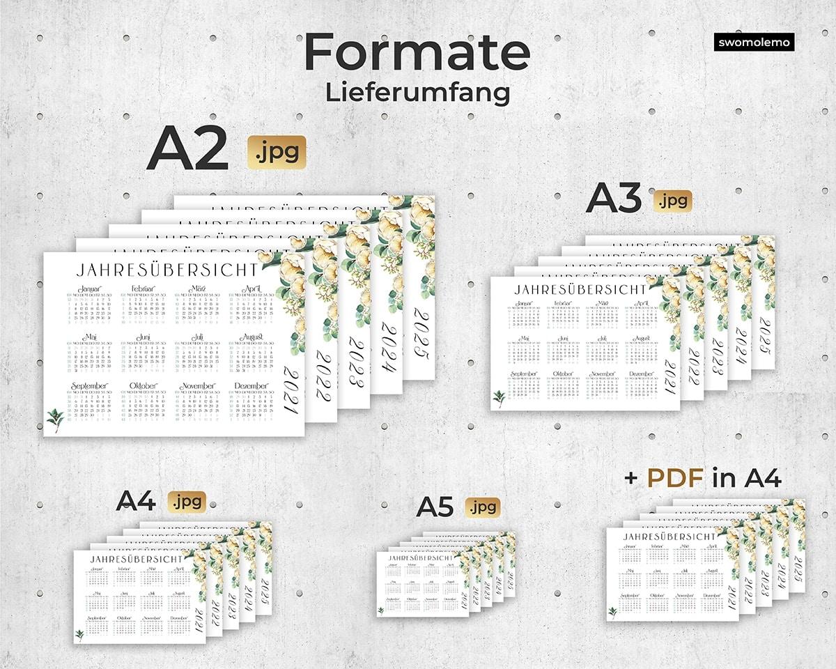 Kalender-Wandkalender-2021-Lieferumfang-Set