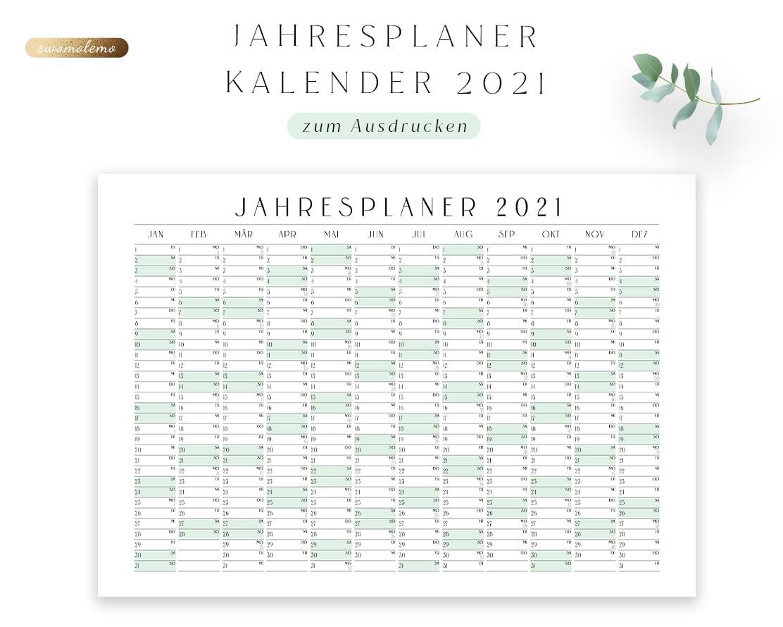 Jahresplaner-2021-pdf-download-Minimal-Green