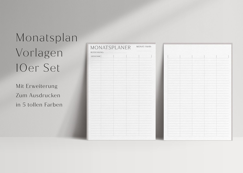 Monatsplaner_minimalistisch_Set_swomolemo_Planer_Vorlage