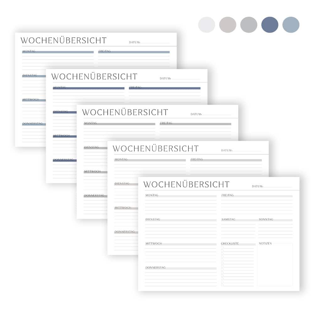 Organizer_zum_Ausdrucken_pdf_universal_Wochenplan