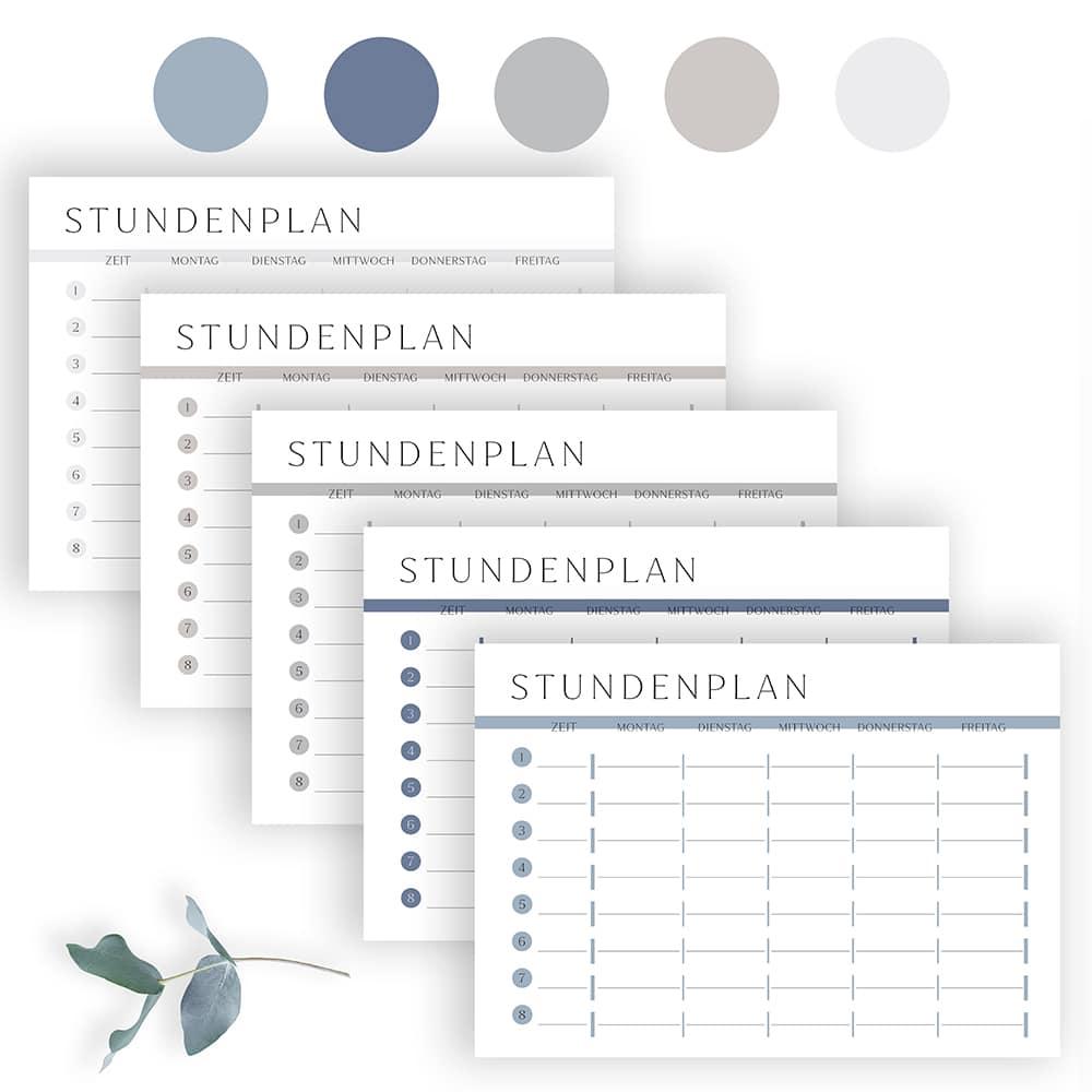 XXL Organizer Komplett-Set | Kalender 2021 mit Planer Vorlagen zum Ausdrucken in 5 Farben 1