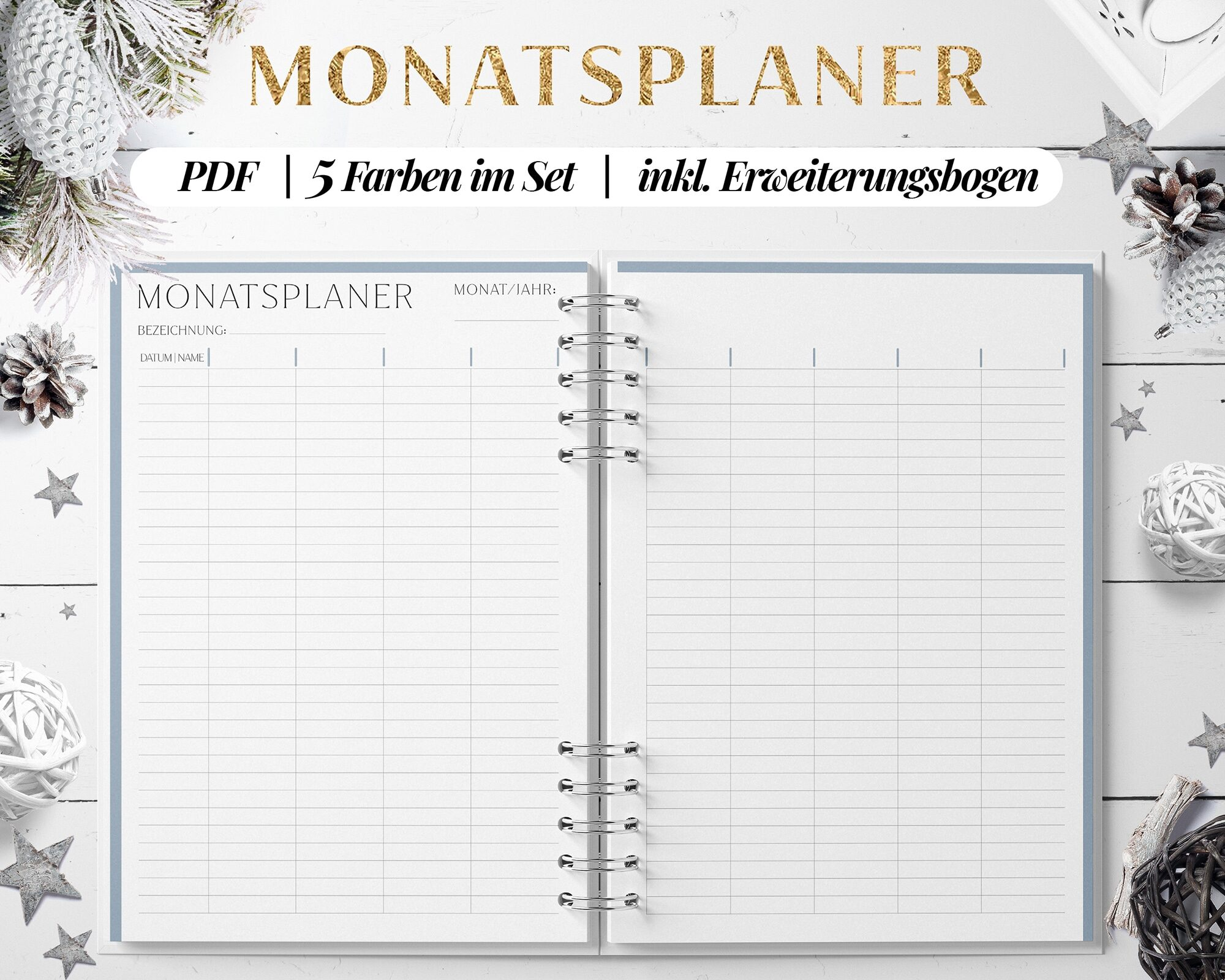 Monatskalender Druckvorlage pdf download
