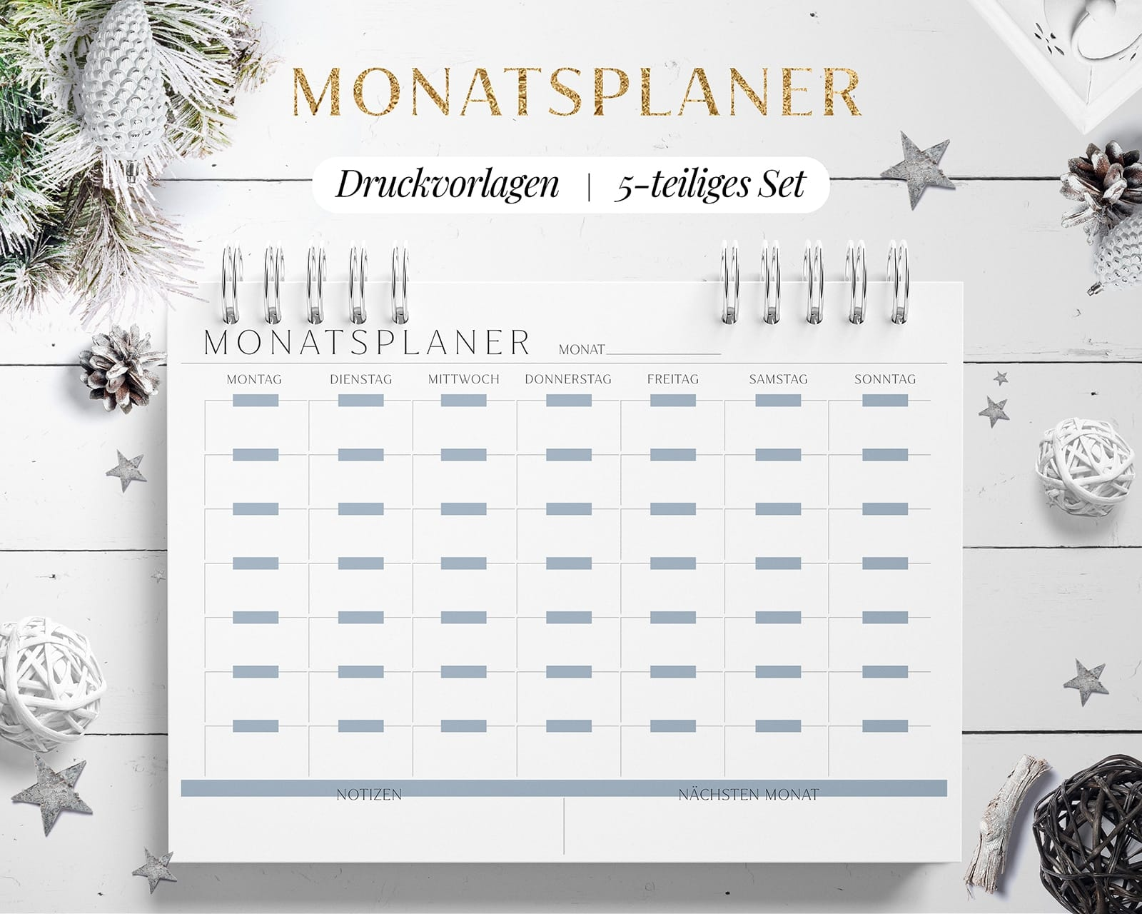 Monatsplan Vorlage Download Blau
