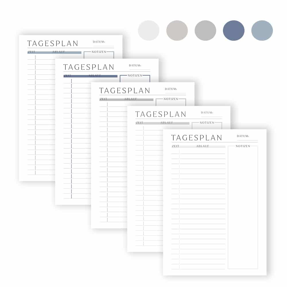 tagesplan_zum_ausdrucken_zeitplan_5_set_farben