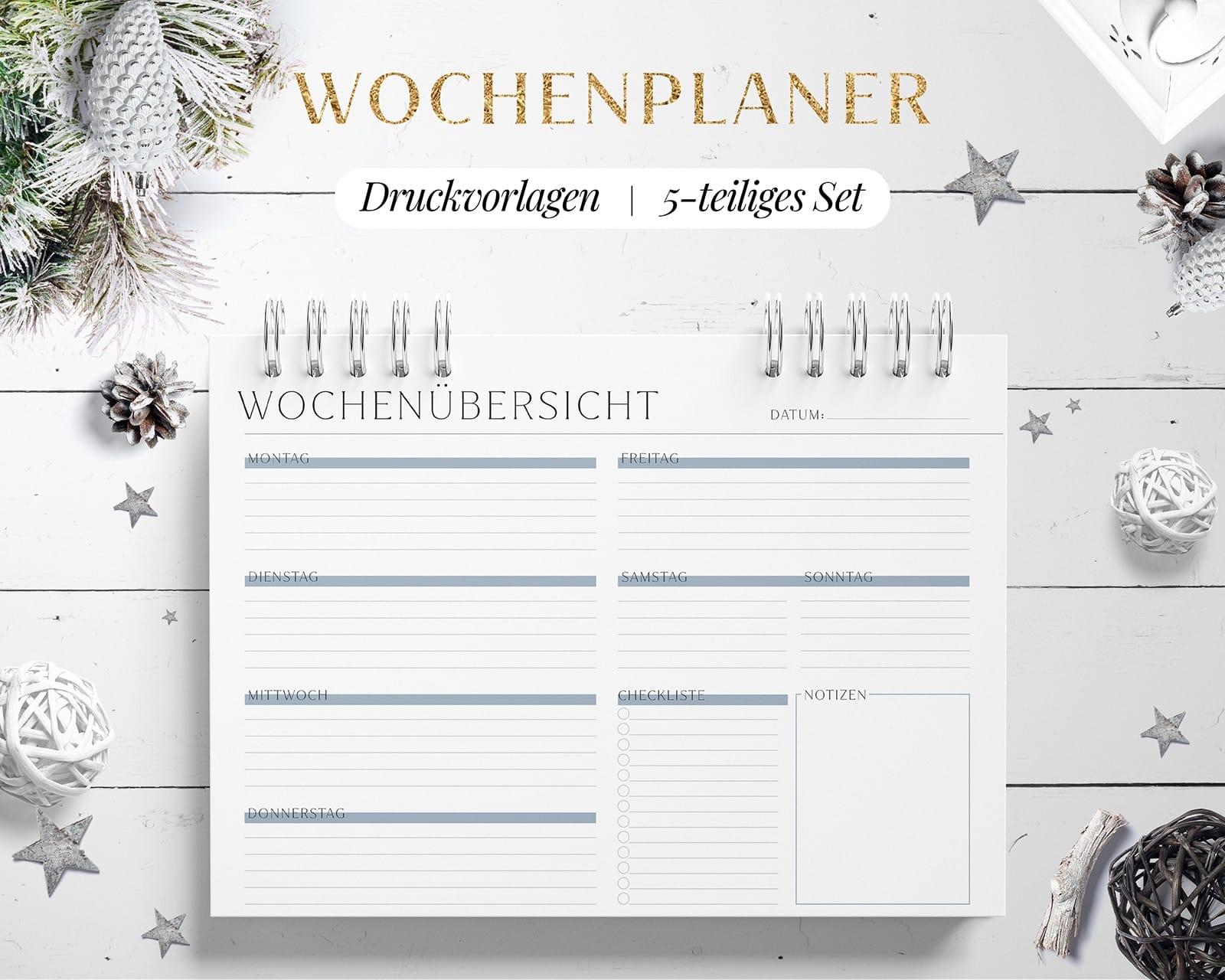 Wochenplan Vorlage PDF Digital zum Drucken
