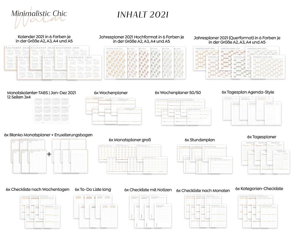 Organizer-2021-Planer-Download-Farben-digital-Minimalistisch-Sommerfarben