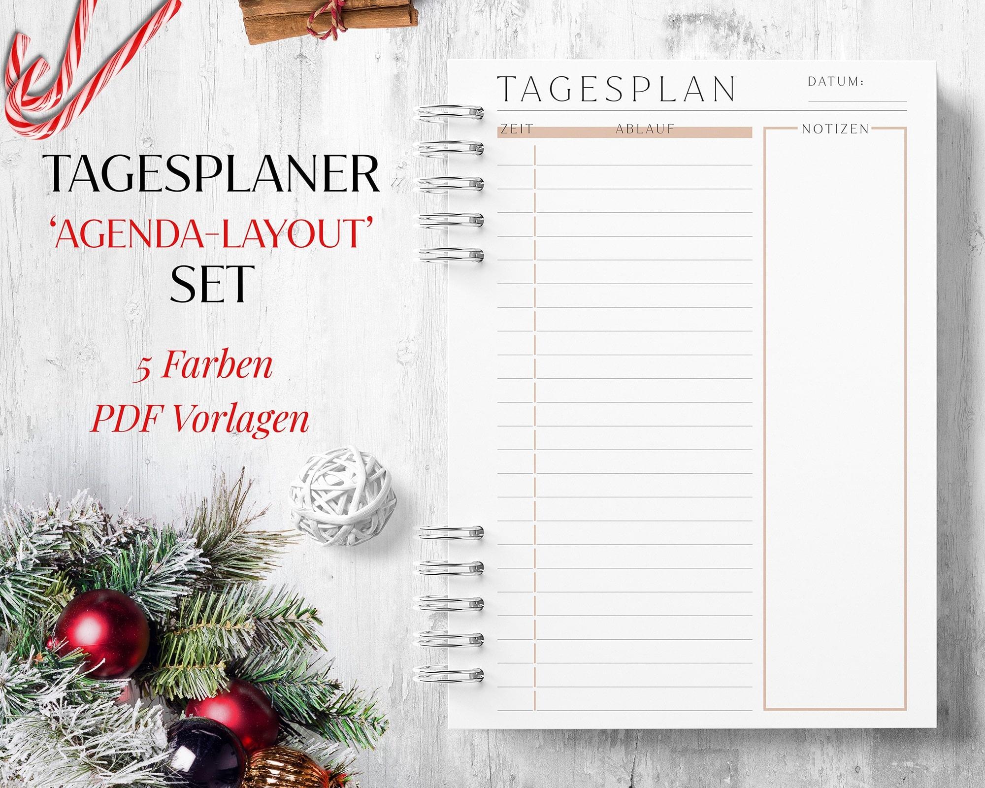 Tagesplan Zeitplan zum Ausdrucken pdf digital