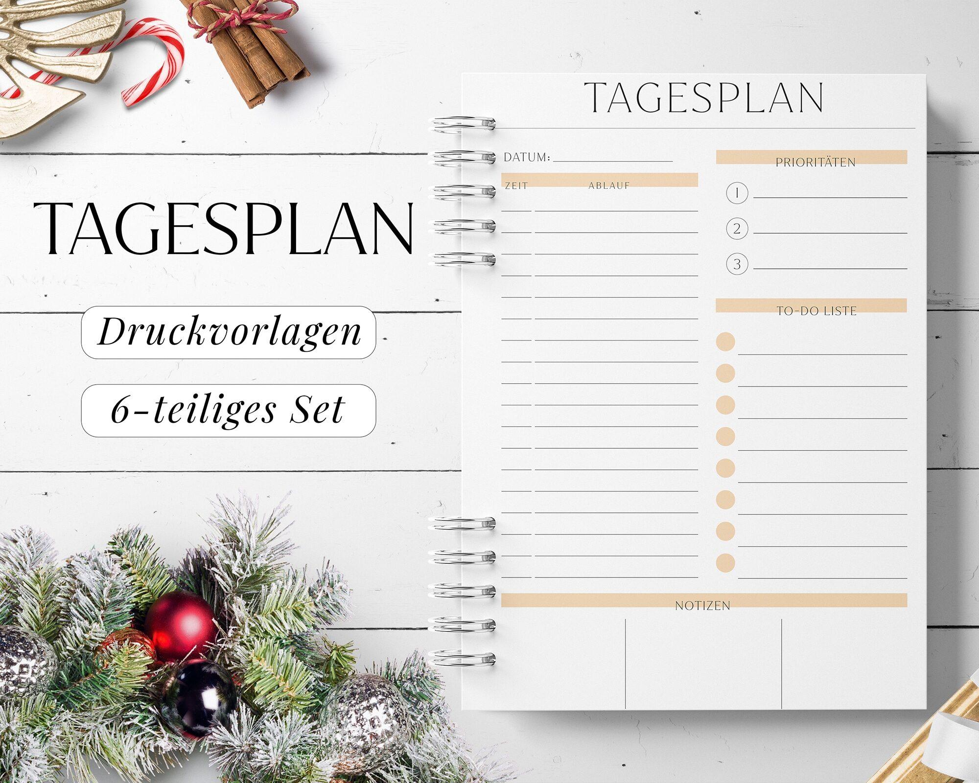 Tagesplan zum Download PDF Ausdrucken