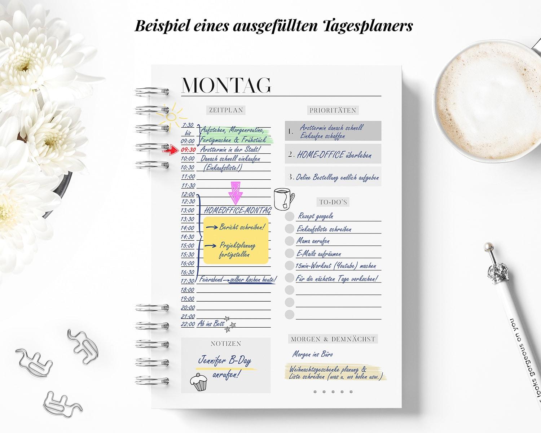 Ausgefüllter Tagesplan Muster Zeitplan