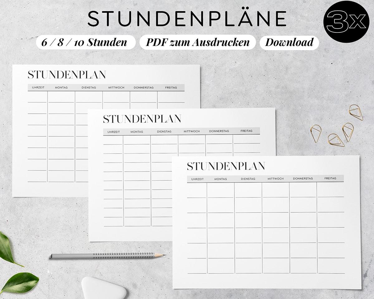 Stundenplan_zum_Ausdrucken_Modern_Digital_pdf_6_8_10_Stunden_Set_Download