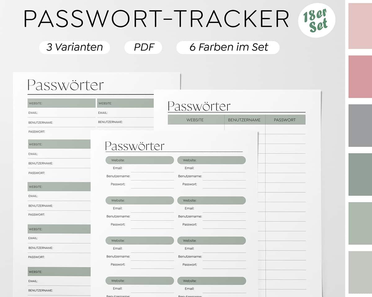 Liste-Zugangsdaten-Aufschreiben-Notieren-Ablage-Download-PDF
