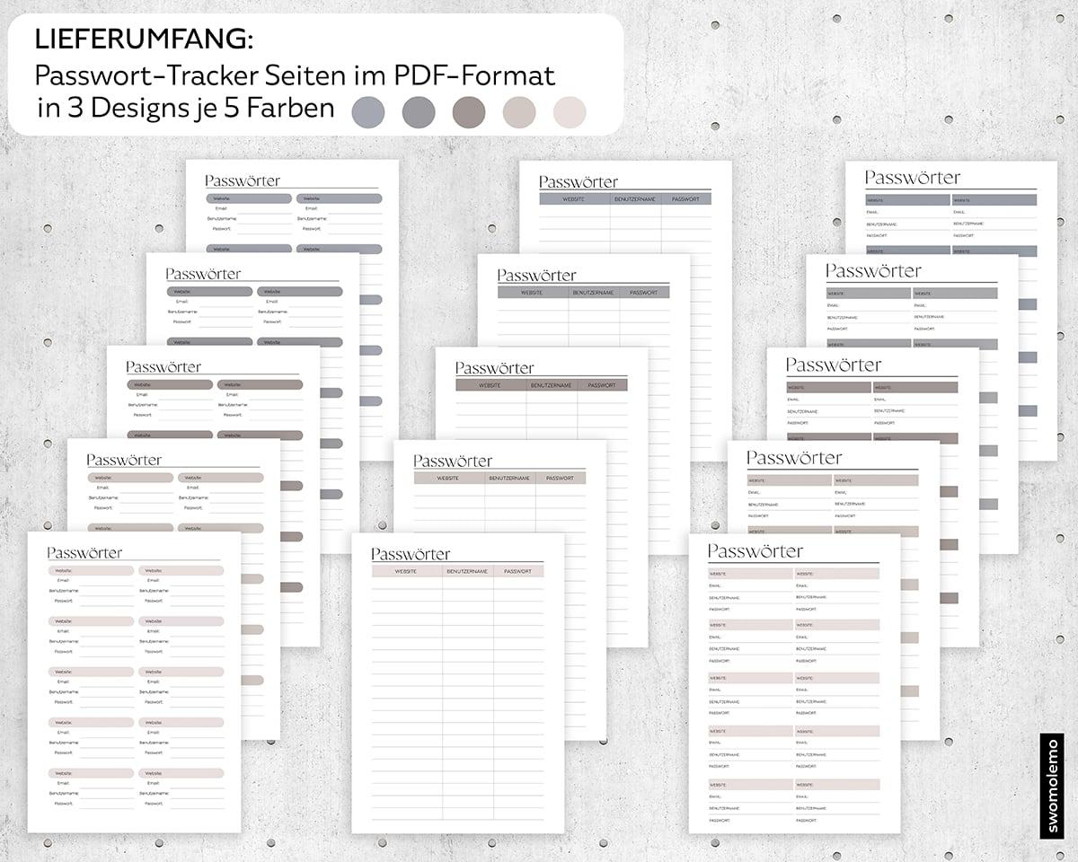 Passwörter-Tracker-Download-Printable-PDF-Vorlage