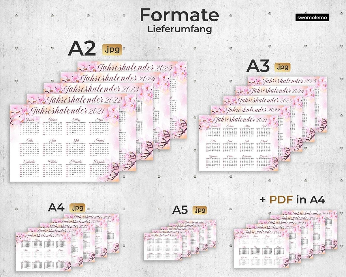 Kalender-Download-Blumen-Watercolor-Wandkalender-Formate-A2-A3-A4-A5