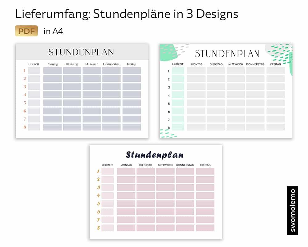 Stundenplan_Download_Digital_PDF_Druckvorlage_Schule_Farben
