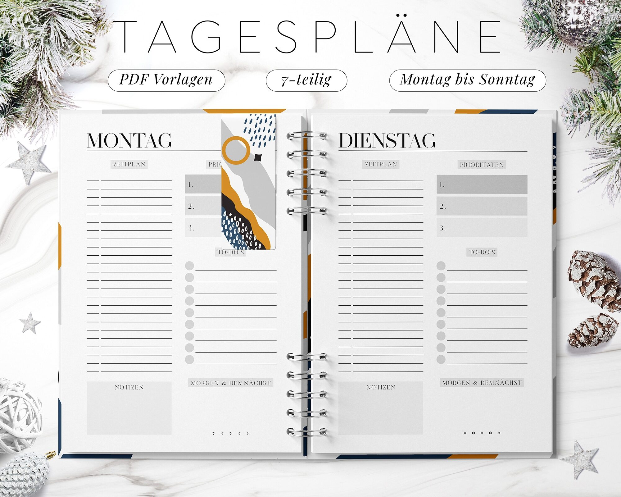 Tagesplan digital pdf Set Download