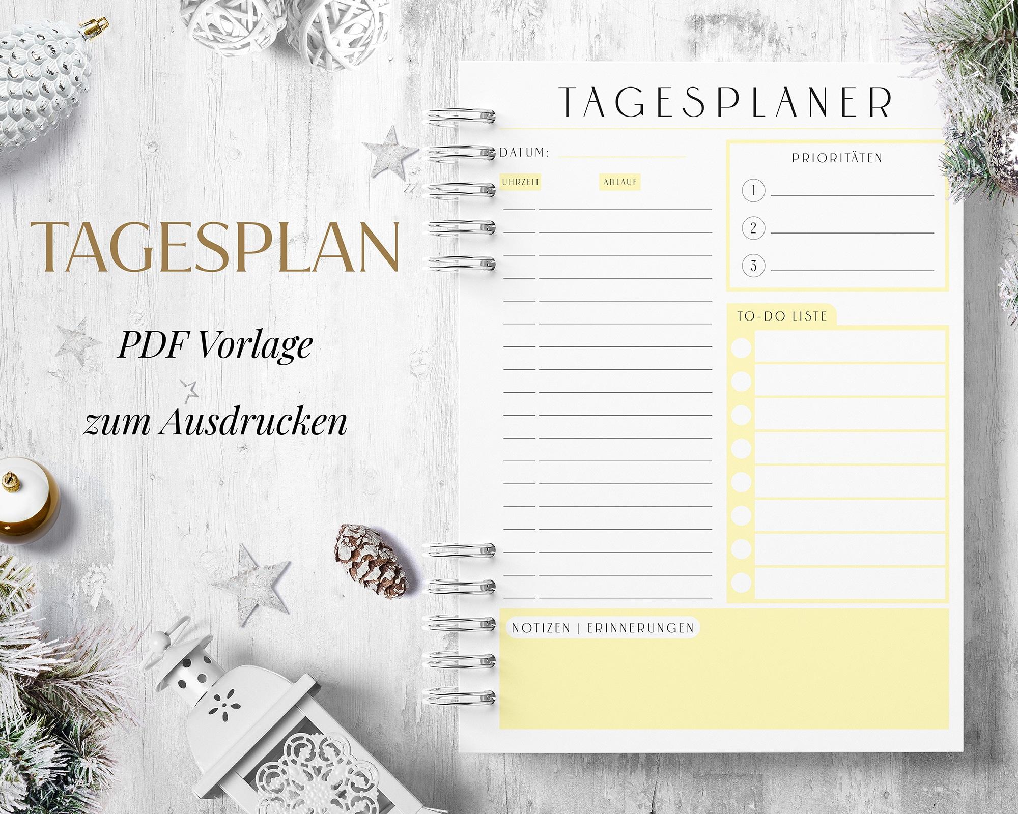 Tagesplan PDF Gelb