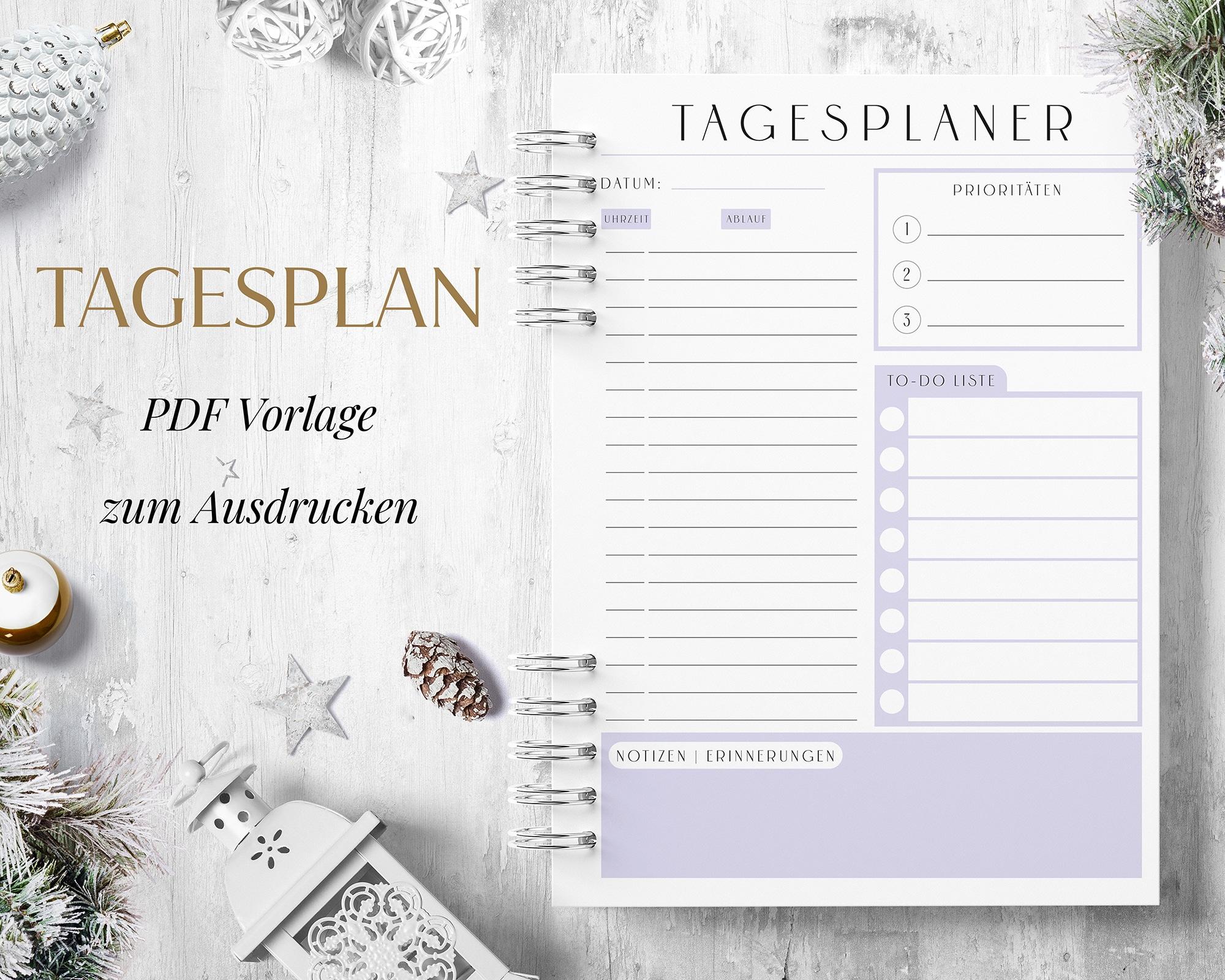 Tagesplan PDF Lila
