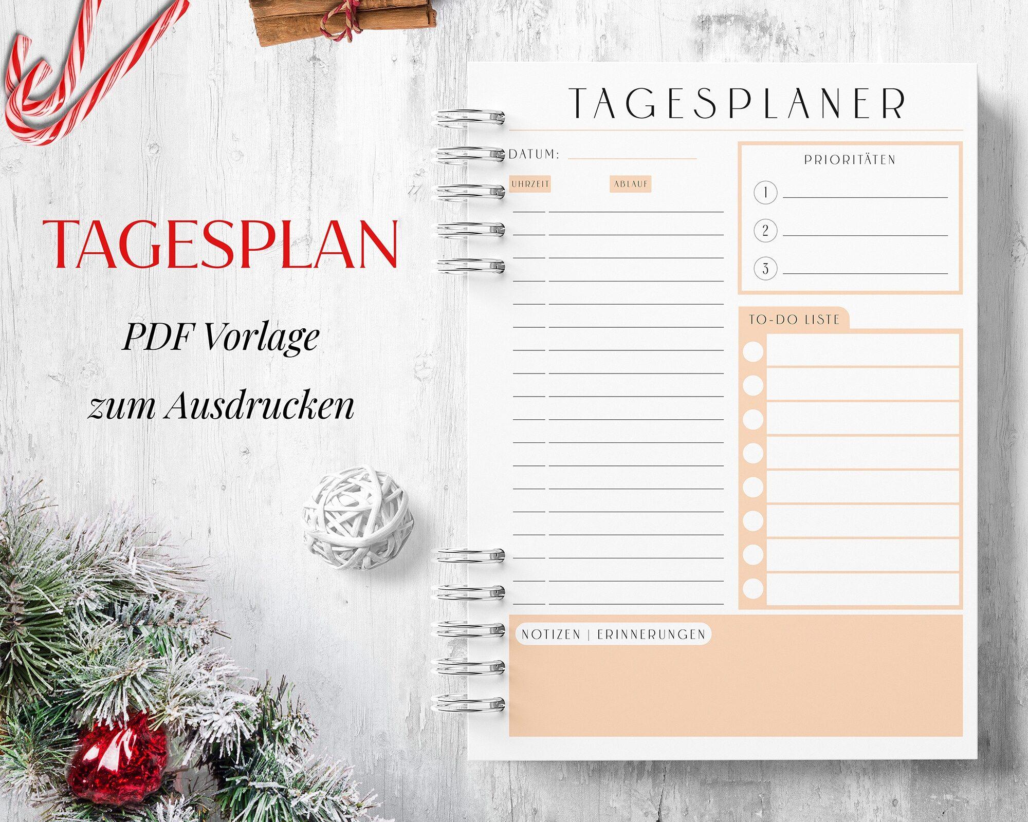 Tagesplan PDF Orange