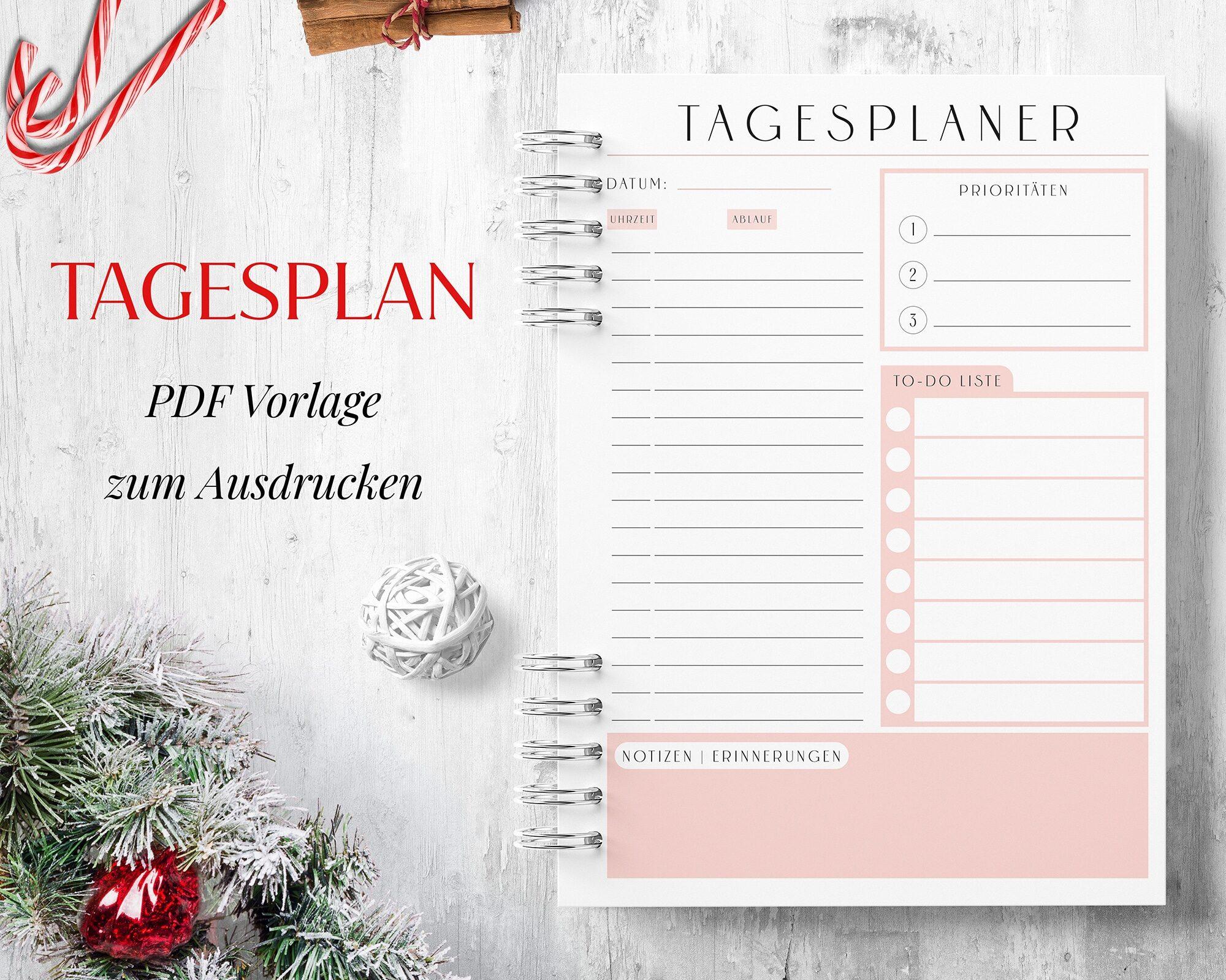 Tagesplan pdf Rosa