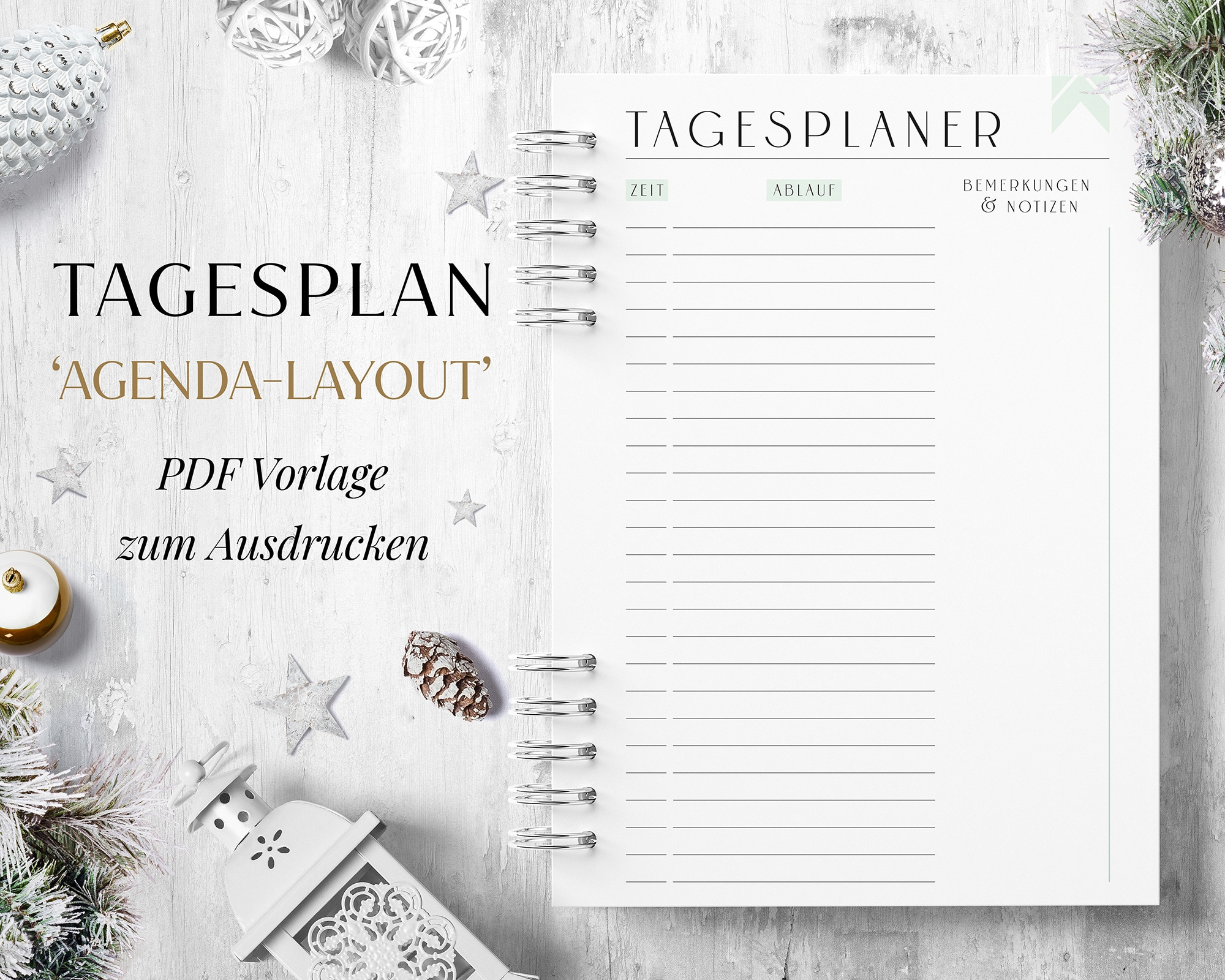 Tagesplan Zeitplan pdf digital download