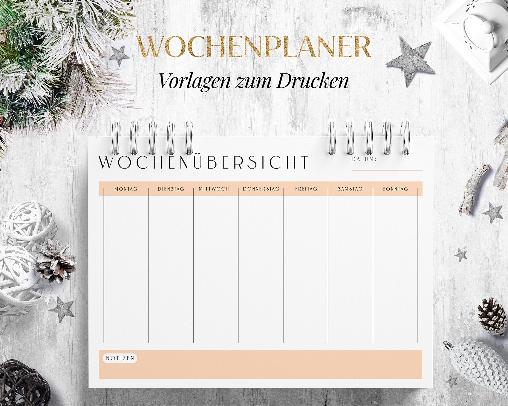 Wochenplan Vorlage Download Orange
