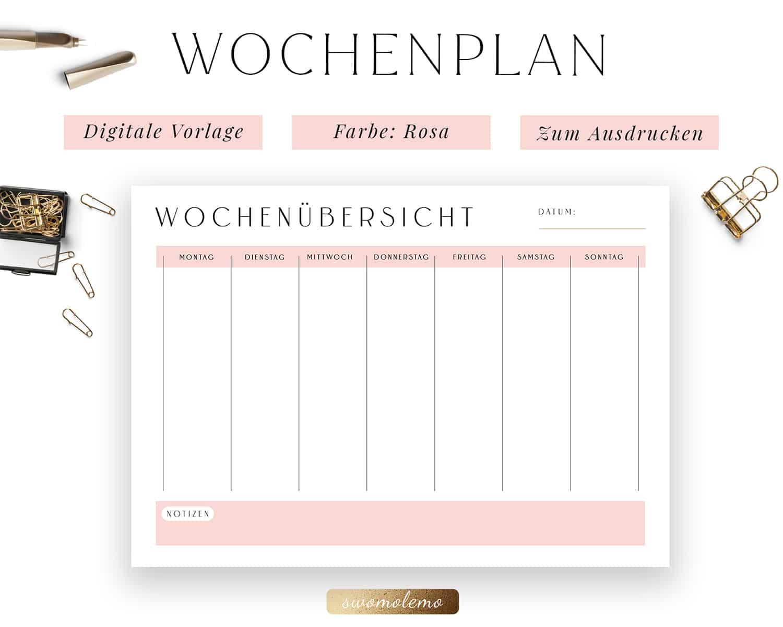 Wochenplanung PDF Rosa